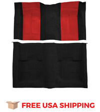 ACC FITS 1970 Ford Mustang Mach I with 2 Red Inserts Fastback Nylon Carpet