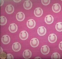 Derby Style pink horseshoes western Riley Blake fabric