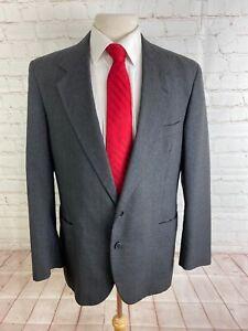 Carlo Pucci Men's Gray Striped Blazer 42 $225