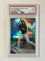ELOY JIMENEZ 2019 Panini Chronicles Phoenix GREEN SP RC /50! PSA MINT 9! INVEST!
