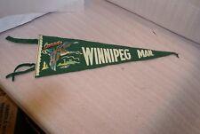Vintage Goose Winnipeg Manitoba Canada Green Felt Pennant