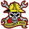 2x Roughneck Pride Hard Hat Sticker Union OSHA Helmet Decal Funny Label Oilfield