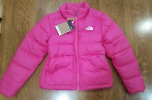 THE NORTH FACE ANDES DOWN JACKET MR PINK GIRLS LARGE 14/16 550 FILL DOWN