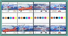 AUSTRALIA ANTARCTIC 2005 POLAR AVIATION guttr PAIRS MNH PLANES, HELICOPTERS