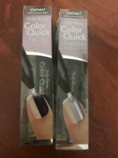 2x Sally Hansen Color Quick Chrome Fast Dry Nail Color Pen #06 Purple Chrome