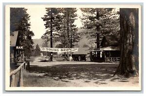 Vintage RPPC Postcard, Young Brothers Bijou Resort Lake Tahoe California