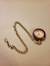 TENSE Wood Pocket Watch with Chain