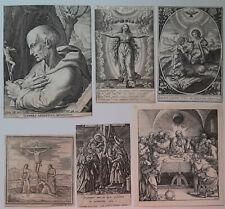 Konvolut Kupferstiche Wierix Galle Angelini Marienverehrg, Kreuzigung, Abendmahl