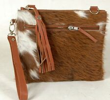 Real Cowhide Cross body Purse Handbag & Hand Clutch  Cow Hide Leather  SA-312
