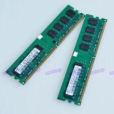 New 2GB (2X1GB) PC2-4200U DDR2-533 533MHz 240pin DIMM Desktop Memory Full tested
