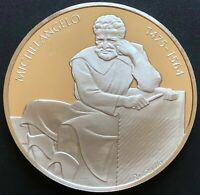 Fine 925 Sterling Silver 1975 Medal Coin Honoring 500th Anniversary Michelangelo