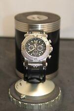 REACTOR Men's 93801 Neutron Chronograph Black Coral Dial Rubber Strap Watch