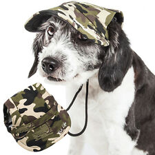 Pet Life Camouflage UV Protectant Adjustable Fashion Designer Pet Dog Hat Cap