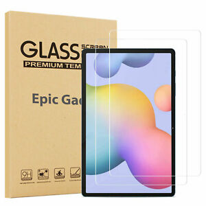 2 PCS Tempered Glass Screen Protector for 2020 Samsung Galaxy Tab S7/S7 Plus