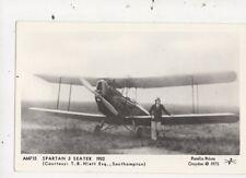 Spartan 3 Seater Aeroplane 1932 Repro Postcard 854a