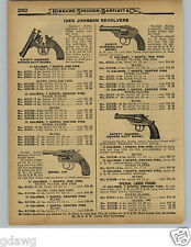 1929 PAPER AD Iver Johnson Revolver Double Action Octagon Barrel .22 Supershot
