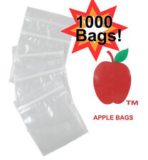 1000 APPLE BRAND BAGGIES 2x3 CLEAR ZIPLOCK BAGS SHIPS FROM AMERICA - FREE SHIP