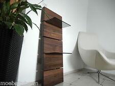 Glasregal Wandboard Nussbaum Massiv Holz Board Regal Regalbrett NEU mit Glas !!!