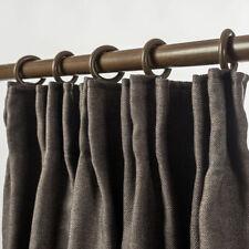 Blockout Pinch Pleat Linen Textured Curtain 230cm Drop 4 Colors 1 Panel/Bag