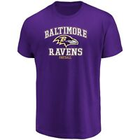 Majestic NFL Baltimore Ravens Men's Greatness Tee, Dark Purple, Small