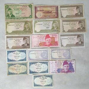 Rupees Pakistan Lot Banknotes