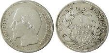 NAPOLEONE III , 1 FRANCO ARGENTO TESTA NUDA , 1860 A PARIS APE