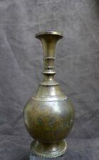 Antique and nice quality bronze vase, India, 18th. 19th. century