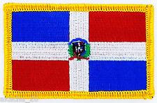 PATCH ECUSSON BRODE DRAPEAU REPUBLIQUE DOMINICAINE  INSIGNE THERMOCOLLANT FLAG
