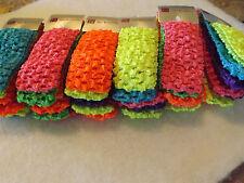 Wholesale 200pcs Girls Baby Crochet Headband With 1.5 inch Acrylic