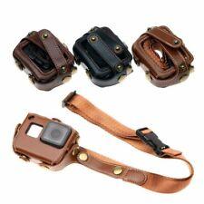 Leather Cover Case Bag Neck Strap Protector for GoPro Hero 7 6 5 Black Camera