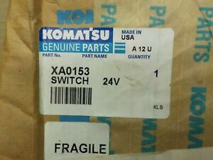 Komatsu Genuine Part XA0153 Switch, Old Part # VW8712,  24V,  685E Part