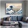 Japanese style Kanagawa The Great Wave Canvas Painting Katsushika Hokusai Print