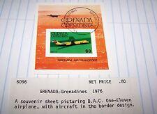 GRENADA 1976 AVIATION SOUVENIR STAMP SHEET LOT 22