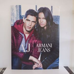 N1368 Poster Display Stand Advertising Armani Jeans Art Deco Pn France