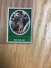 1972 Sunoco Larry Grantham New York Jets Sticker Stamp