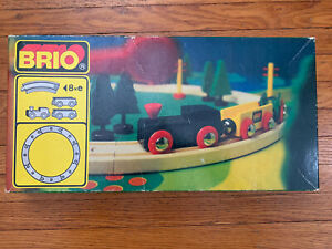 Vintage 1980s Brio Wooden Railway Train Set No 3115 31404/20 Train Sweden