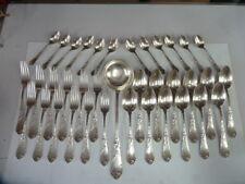 MENAGERE ART NOUVEAU DE 37 pièces décor IRIS mo: BOULENGER en métal argente