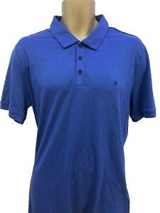 Calvin Klein XL Blue Polo Designer Great Condition Collar Short Sleeve