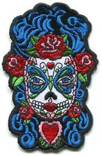 BUTTERFLY EYES lady sugar skull IRON-ON PATCH  -y ph516 dia de los muertos candy