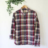 Brooks Brothers Red Fleece Men's Button Front Long Sleeve Shirt M Medium Plaid