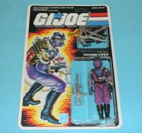 *RECARDED* 1987 GI Joe Techno Viper Figure Complete Sealed CUSTOM File Card Back