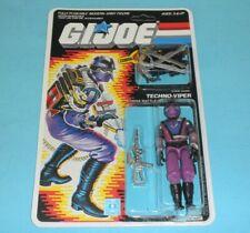 *RECARDED* 1987 GI Joe Techno Viper Figure Complete Sealed CUSTOM File Card Back