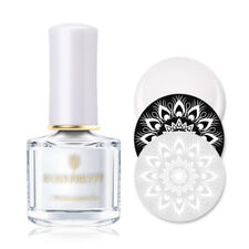 6ml BORN PRETTY Weiß Stempel Nagellack Nagel Stempel Schablone Varnish Dekor