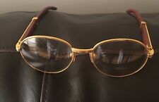 Vintage Cartier Eye or Sunglasses  Gold And Wood 1990