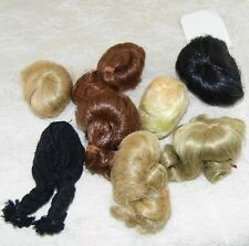 VINTAGE 8 DOLL wig LOT! size 4-5 Misc. assorted tiny size unbranded UNUSED