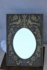 Vintage metal farame Boudoir or Dressing Table Mirror French Vanity Mirror Oval