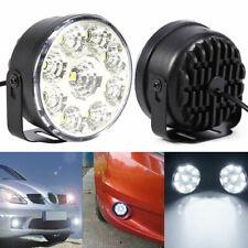 2X LED DRL Car Fog Lamp Round Driving Running Daytime Light Head Light White