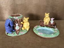 Disney Classic Winnie The Pooh Bathroom set toothbrush holder soap dish lot