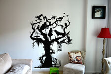 Wall Art Vinyl Sticker Room Decal Mural Decor Tree Fairy Tale Girl Animalbo2371