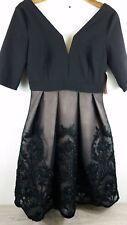 Little Misstress Lace Detail Skater Ladies Dress Sz UK 10 A423-10